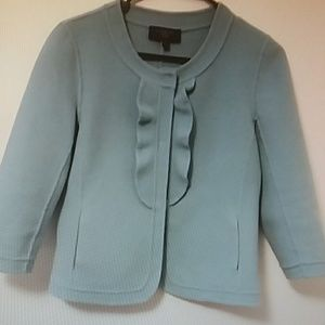 TALBOTS Petites Women's Pale Blue Jacket Wool Sz 8